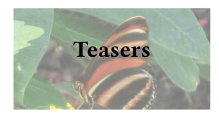 Teasers and Teasing Third Quarter 2021